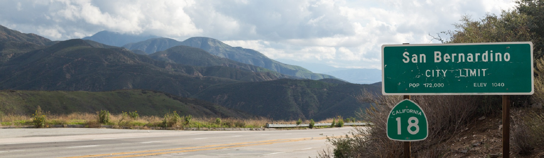 View of San Bernadino Rim of World Highway