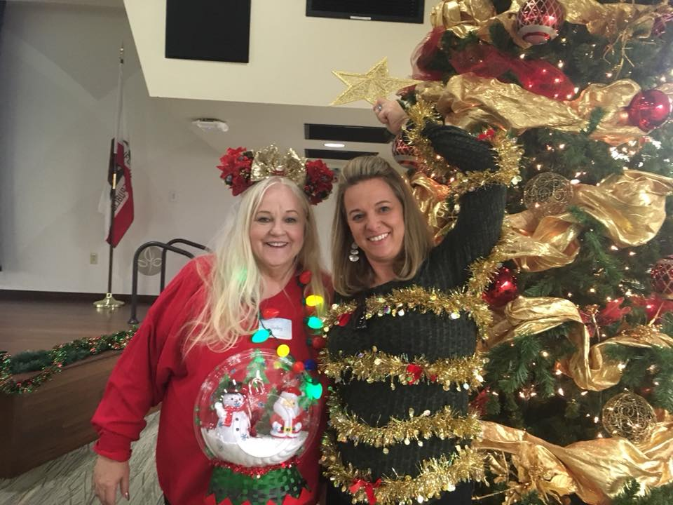 Shelley & Kristie - Ugly Sweater Competition Winners