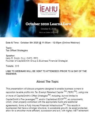 October Learn&Earn Webinar